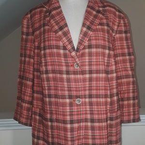 Talbots multi color blazer jacket 14w
